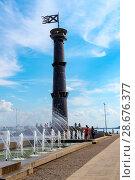 Купить «Башня-маяк в парке 300-летия Санкт-Петербурга», эксклюзивное фото № 28676377, снято 18 июня 2018 г. (c) Александр Щепин / Фотобанк Лори