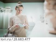 Купить «woman with guidebook standing in museum», фото № 28683477, снято 18 ноября 2017 г. (c) Яков Филимонов / Фотобанк Лори