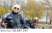 Portrait of a cheerful elderly woman. Стоковое фото, фотограф Владимир Белобаба / Фотобанк Лори
