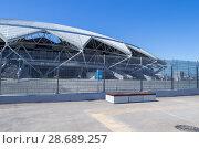 Купить «Самара. Футбольный стадион «Самара-Арена»», фото № 28689257, снято 17 июня 2018 г. (c) Артем Блинов / Фотобанк Лори