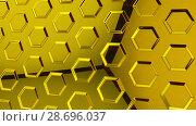 Купить «Abstract yellow glass background 3d rendering», иллюстрация № 28696037 (c) Владимир Белобаба / Фотобанк Лори