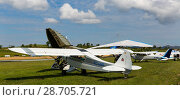 Купить «Air show Aerosport at Igualada-Odena aerodrome», фото № 28705721, снято 20 мая 2018 г. (c) Яков Филимонов / Фотобанк Лори