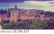 View of the Nazaries palaces of Alhambra. Granada (2016 год). Стоковое фото, фотограф Яков Филимонов / Фотобанк Лори