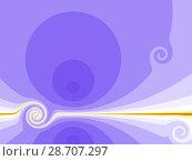 Купить «Purple background with spiral», иллюстрация № 28707297 (c) Любовь Назарова / Фотобанк Лори