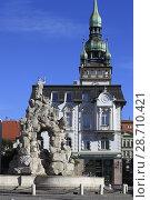 Купить «Czech Republic, Brno, Vegetable Market, Parnassus Fountain, Old Town Hall,.», фото № 28710421, снято 20 мая 2018 г. (c) age Fotostock / Фотобанк Лори