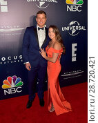 NBCUniversal's 74th Annual Golden Globes After Party Featuring: Aly Raisman, Colton Underwood Where: Beverly Hills, California, United States When: 08 Jan 2017. Редакционное фото, фотограф WENN Ltd. / age Fotostock / Фотобанк Лори