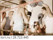 Купить «Children training on boxing ring», фото № 28723445, снято 12 апреля 2017 г. (c) Яков Филимонов / Фотобанк Лори
