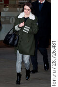 Maisie Williams pictured arriving at the Radio 1 studios (2017 год). Редакционное фото, фотограф Mario Mitsis / WENN.com / age Fotostock / Фотобанк Лори