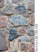 Купить «Stone wall texture», фото № 28730193, снято 23 июня 2018 г. (c) Юлия Бабкина / Фотобанк Лори