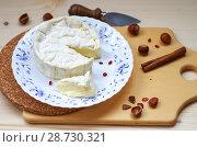 Купить «Мягкий сыр с плесенью», фото № 28730321, снято 9 июля 2018 г. (c) Natalya Sidorova / Фотобанк Лори