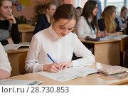 Купить «Урок», фото № 28730853, снято 9 апреля 2018 г. (c) Иван Карпов / Фотобанк Лори
