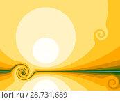 Купить «Yellow background with stylized sun», иллюстрация № 28731689 (c) Любовь Назарова / Фотобанк Лори