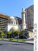 """Купить «Мечеть """"Аждарбек"""". Также известна как Голубая мечеть. Баку. Азербайджан», фото № 28738125, снято 26 сентября 2015 г. (c) Евгений Ткачёв / Фотобанк Лори"""