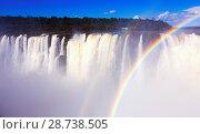 Купить «Iguazu Falls system», фото № 28738505, снято 16 февраля 2017 г. (c) Яков Филимонов / Фотобанк Лори