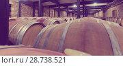 Купить «barrels in wine cellar», фото № 28738521, снято 28 июня 2014 г. (c) Яков Филимонов / Фотобанк Лори
