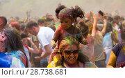 Купить «People celebrating Holi Festival», фото № 28738681, снято 28 мая 2017 г. (c) Яков Филимонов / Фотобанк Лори