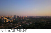 Купить «A stella at the Victory park Poklonnaya hill», видеоролик № 28746241, снято 12 июля 2018 г. (c) Вадим Пономаренко / Фотобанк Лори