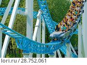 Купить «A popular attraction is the Russian roller coaster.», фото № 28752061, снято 15 июля 2018 г. (c) Александр Клопков / Фотобанк Лори