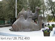 """Памятник """"Мы победили!"""". Ахтубинск (2017 год). Редакционное фото, фотограф Виктор Юрасов / Фотобанк Лори"""