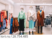 Mannequins Dressed In Female Woman Casual Clothes In Store Of Shopping Center. Стоковое фото, фотограф Ryhor Bruyeu / easy Fotostock / Фотобанк Лори