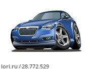 Купить «Cartoon vector car», иллюстрация № 28772529 (c) Александр Володин / Фотобанк Лори