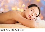 Купить «beautiful woman having hot stone therapy at spa», фото № 28773333, снято 25 июля 2013 г. (c) Syda Productions / Фотобанк Лори