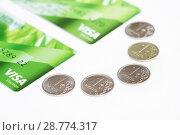 Купить «Перевод денег с карты на карту», эксклюзивное фото № 28774317, снято 2 июля 2018 г. (c) Dmitry29 / Фотобанк Лори