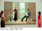 General view of the David Hockney retrospective at Tate Britain, ... (2017 год). Редакционное фото, фотограф WENN.com / age Fotostock / Фотобанк Лори