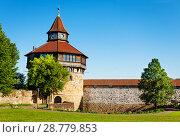 Dicker Turm tower in Esslinger Burg, Germany (2017 год). Стоковое фото, фотограф Сергей Новиков / Фотобанк Лори