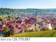 Esslingen with vineyards viewed from Dicker Turm (2017 год). Стоковое фото, фотограф Сергей Новиков / Фотобанк Лори