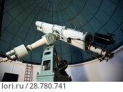 Купить «modern telescope in observatory», фото № 28780741, снято 17 апреля 2016 г. (c) Яков Филимонов / Фотобанк Лори