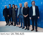 Купить «Members of the Jury attend a photocall and press conference to open the 67th Berlinale Film Festival in Berlin. Featuring: Wang Quan'an, Diego Luna, Maggie...», фото № 28786825, снято 9 февраля 2017 г. (c) age Fotostock / Фотобанк Лори