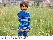 Купить «Boy in sailor clothes, Marina Urola, Santiago beach, Zumaia, Gipuzkoa, Basque Country, Spain, Europe», фото № 28787281, снято 31 мая 2018 г. (c) age Fotostock / Фотобанк Лори
