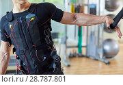 Купить «Training, Exercise with vest with electrostimulation, Fitness center, Donostia, San Sebastian, Basque Country, Spain, Europe», фото № 28787801, снято 26 мая 2018 г. (c) age Fotostock / Фотобанк Лори