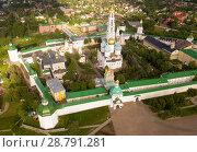 Купить «Panoramic aerial view of Trinity-Sergius Lavra in Sergiev Posad», фото № 28791281, снято 9 июня 2018 г. (c) Яков Филимонов / Фотобанк Лори