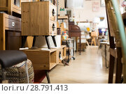 Купить «Wide selection of vintage furniture in showroom», фото № 28791413, снято 9 ноября 2017 г. (c) Яков Филимонов / Фотобанк Лори