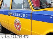 Купить «Старая машина милиции Республики Беларусь - ВАЗ 2101», фото № 28791473, снято 16 июля 2018 г. (c) Юлия Юриева / Фотобанк Лори