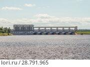 Угличская ГЭС (2018 год). Стоковое фото, фотограф Андрей Пожарский / Фотобанк Лори