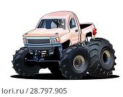 Купить «Cartoon Monster Truck», иллюстрация № 28797905 (c) Александр Володин / Фотобанк Лори