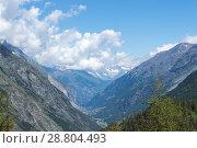 Mountain landscape, in the Pennine Alps in the canton of Valais (2018 год). Стоковое фото, фотограф Григорий Стоякин / Фотобанк Лори