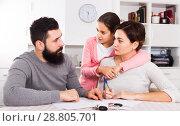 Купить «Parents signing papers for divorce», фото № 28805701, снято 19 февраля 2019 г. (c) Яков Филимонов / Фотобанк Лори
