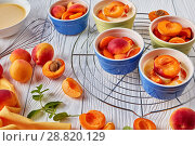 Купить «Ingredients for french dessert apricot clafoutis», фото № 28820129, снято 22 июля 2018 г. (c) Oksana Zh / Фотобанк Лори