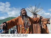 Купить «Концерт фольклорного танцевального коллектива коренных народов полуострова Камчатка», фото № 28825849, снято 11 июля 2015 г. (c) А. А. Пирагис / Фотобанк Лори