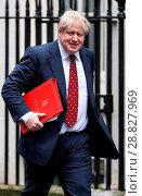 Купить «Ministers attend the weekly Cabinet meeting at 10 Downing Street Featuring: Boris Johnson MP Where: London, United Kingdom When: 07 Feb 2017 Credit: WENN.com», фото № 28827969, снято 7 февраля 2017 г. (c) age Fotostock / Фотобанк Лори