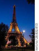 Купить «Tour Eiffel at night», фото № 28832813, снято 19 июля 2013 г. (c) Сурикова Ирина / Фотобанк Лори