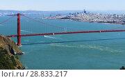 Купить «view of golden gate bridge over san francisco bay», видеоролик № 28833217, снято 5 июля 2018 г. (c) Syda Productions / Фотобанк Лори