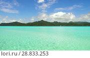 Купить «lagoon and mountains in french polynesia», видеоролик № 28833253, снято 3 июля 2018 г. (c) Syda Productions / Фотобанк Лори