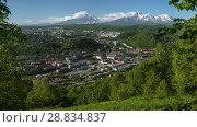 Купить «Летняя панорама Петропавловска-Камчатского», фото № 28834837, снято 8 июля 2018 г. (c) А. А. Пирагис / Фотобанк Лори