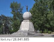 Купить «Памятник Ленину в Нижнем Тагиле», фото № 28841885, снято 24 июля 2018 г. (c) Михаил Марковский / Фотобанк Лори