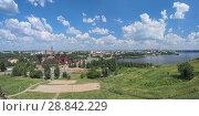 Купить «Панорамный вид на Нижний Тагил со склона Лисьей горы», фото № 28842229, снято 24 июля 2018 г. (c) Михаил Марковский / Фотобанк Лори